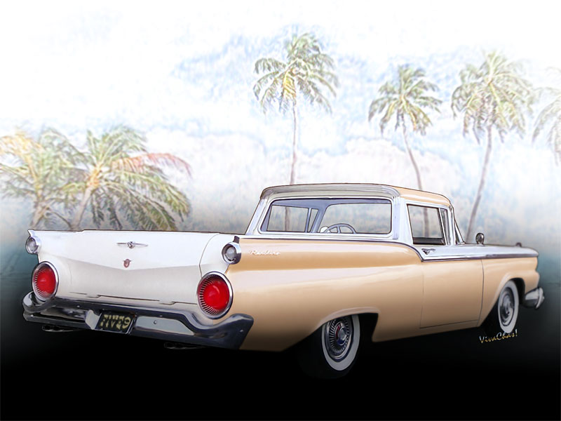 1959 Ford Ranchero 1st Generation Archival Quality Print, on canvas, metal, fine papers - Great Gift! - Click the Pix or text link to Shop the products!