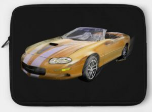 2002 4th Generation Camaro Convertible Laptop Case - Click Pix to Shop this case and Tees!