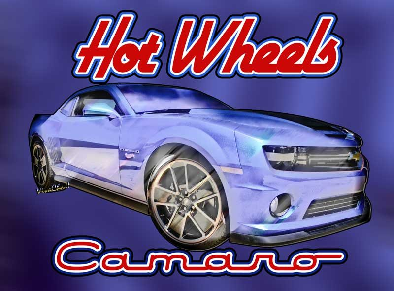 2013 Hot Wheels Camaro with Hot - Hot Wheels Camaro Lettering! - Click this Pix to Get this print!