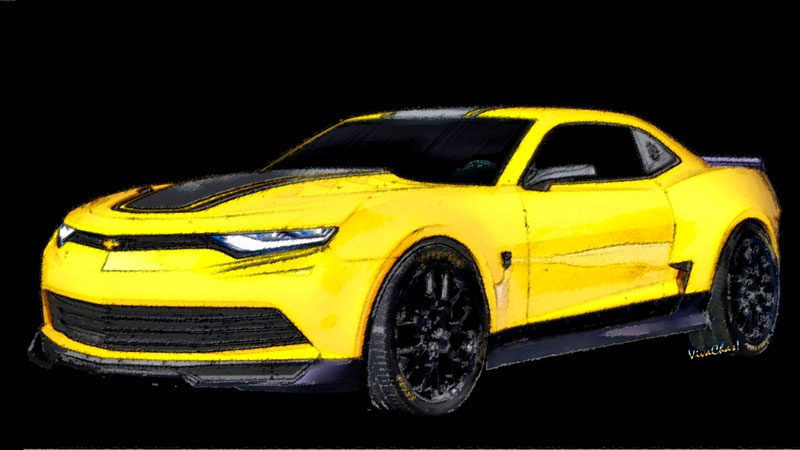 2016 Camaro 6th Generation painted drawing - Buy print or other products by clicking pix of text link
