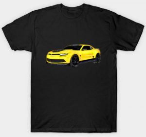 2016 Camaro Yellow - Tee Shirts for Men and Women - Click Pix to Shop!!