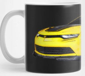 2016 Camaro in Yellow on your Mug! Click Pix to buy it!