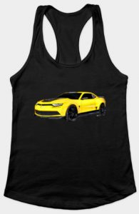 Yellow 2016 Camaro RazorBack Lady Tank - Click Pix to Shop for More!