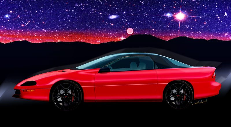 1993 4th Generation Camaro Z28 on a Starry, Starry Night! - Click the Pix to Shop for a print of that ground-breaking ride!