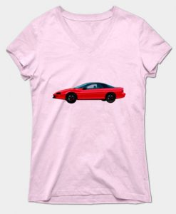 93 4th Generation Camaro on a Lady's V-Neck Tee - Click the Pix and Chose Gender to Shop for Tees!