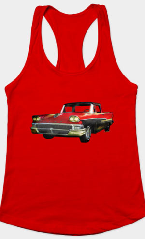 Ford Ranchero 1st Generation 1958 Razor back tank and more! Click the pix to shop for Tees, Tanks and Mugs!