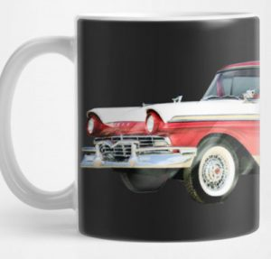 Have a Cuppa sporting this 1957 Ford Ranchero 1st Generation! - Click this pix to shop this and other stuff featuring this ride!