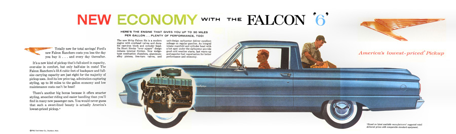 1960 2nd Generation Ford Ranchero Brochure courtesy the fine folks at Old Car Brochures!