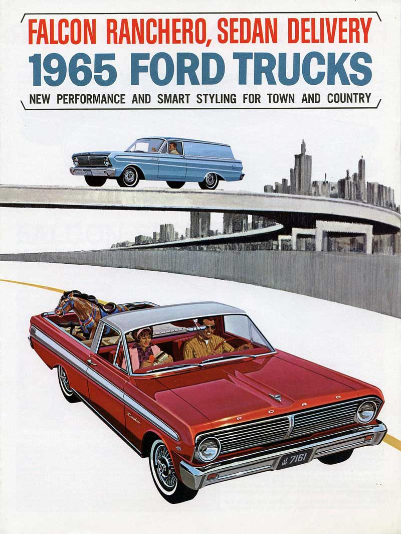 1965 Ford Ranchero Fold-out Brochure from Old Car Brochures - Click Pix to see it Big!
