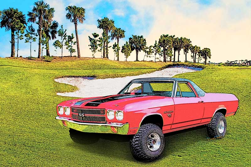 70 Chevy El Camino 2nd Generation Custom 4x4 from VivaChas! - Click Pix or the text link to shop this print and products!