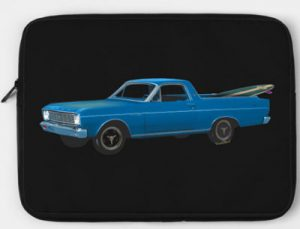 1966 Ford Ranchero Laptop Zip Case from VivaChas! Click the pix to shop for lots of gifts with this ride on it!