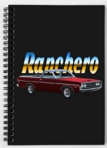 68 and 69 Ranchero spiral or hard-cover note-book amongst all the other stuff sporting this ride! Click the pix to Shop!