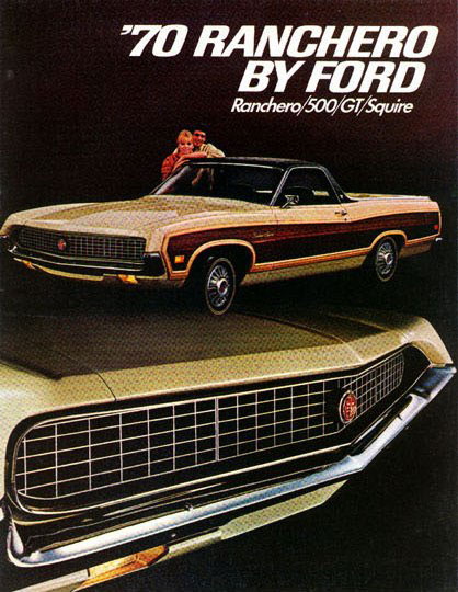 1970 Ford Ranchero Print Ad Courtesy Old Car Advertising!