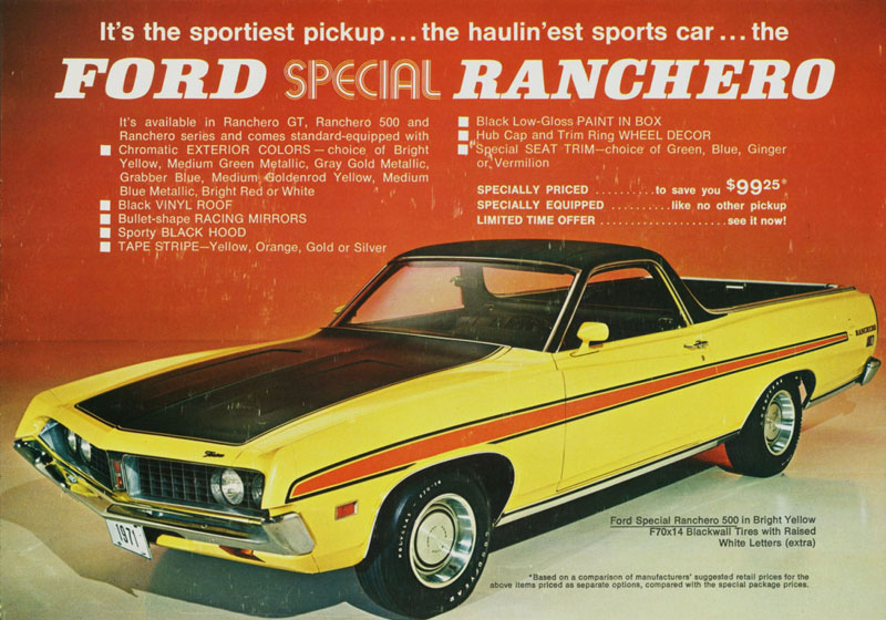 1971 Ford Ranchero from the good folks at Old Car Advertising!