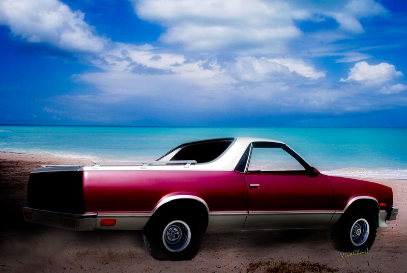 1987 Chevy El Camino 5th Generation Automotive Art from VivaChas! Click the Pix or Text Link to Shop for a Print or Product Featuring this ride!