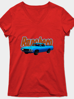 70 Ranchero Lady's Tee Shirt from VivaChas! - Click this Pix to Shop for all Tees on this Ranchero!