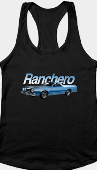 1979 Ranchero GT RacerBack Tank for women - Men Too! - Click the Pix to Shop for Ur Tee!