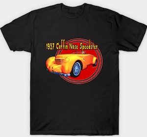 1937 Cord Coffin Nose Speedster T-Shirt from VivaChas! - Click the Pix to see the Tee Varieties!
