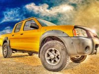 Nissan Navara Crew-Cab known in the states as the Frontier - click the pix to shop for a print or other swag!