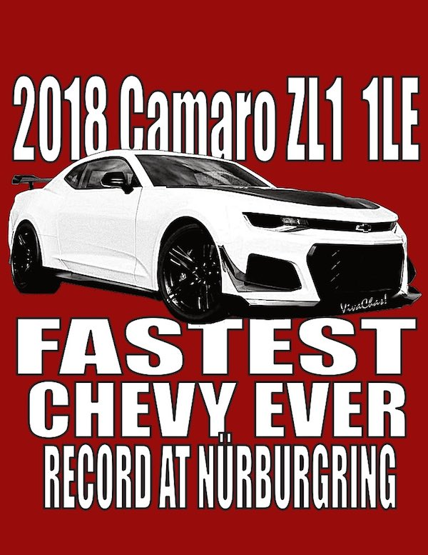 The Commemorative Photo Poster Print of the 2018 Camaro Record from VivaChas! - Click the image to get yours now! ~;0)