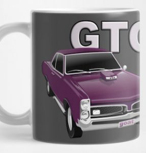 Pontiac GTO Mug from VivaChas! - Click the Pix to drink your cuppa Joe from a GTO Mug!