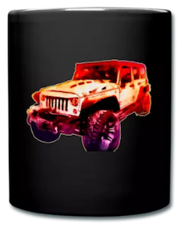 2017 Jeep Unlimited Mug! I need a Cuppa After that Vid from Suicide Squad! - Get Your own Jeep Mug like no other! Click Pix Go Go Go!!