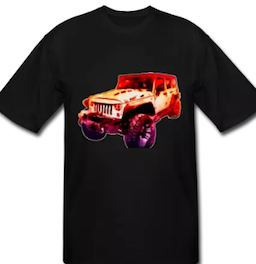 2017 Jeep Unlimited Tall and Big Sizes T-Shirt from VivaChas! Click Pix for Tall Sizes!