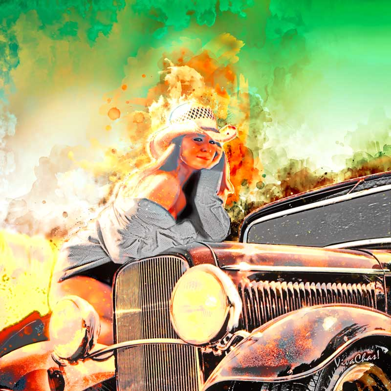 Hot Rod Pinup Happiness is a Warm Sun - VivaChas Hot Rod Stories!!!