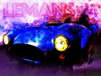 LeMans 24 Speed Racer Tribute Watercolor from VivaChas! - Click the Pix to Shop for a Print!