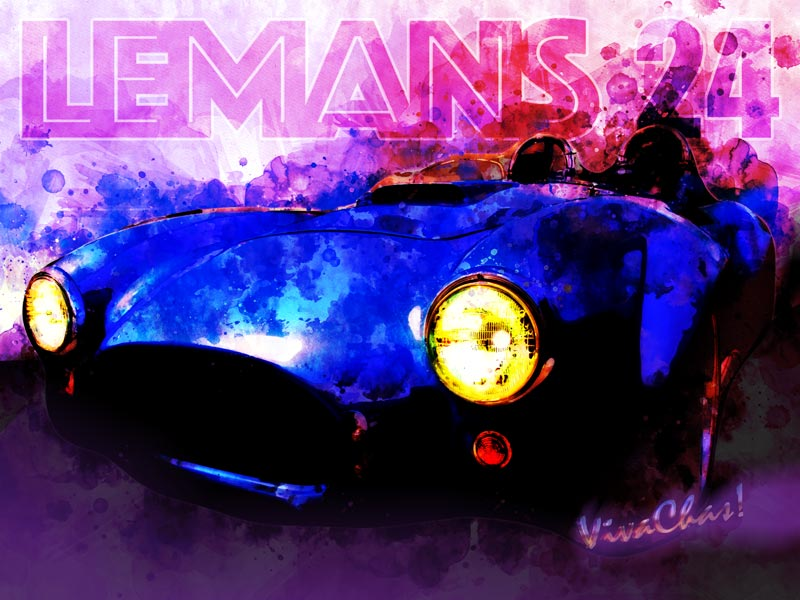 LeMans 24 Speed Racer Tribute Watercolour from VivaChas! - Click the Pix to Shop for a Print!