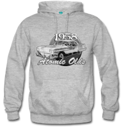 58 Atomic Oldsmobile Hoodie lots of sizes - pick your by clicking the hoodie pix!