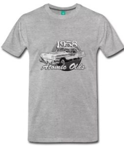58 Oldsmobile Atomic Olds Tee in Reg - Big Sizes and Styles - Click the Tee to shop this T-Shirt!