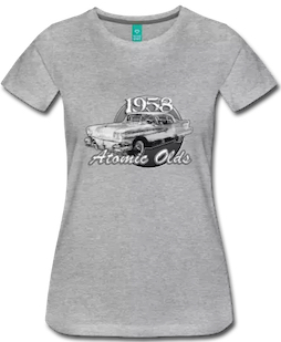 58 Oldsmobile Atomic Lady's Tee - Click that T-Shirt to shop your size!