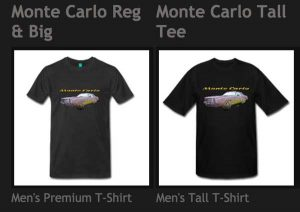 Black Monte Carlo Tees from VivaChas! This is the Ride! - Shop Now!