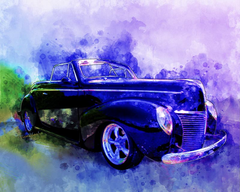 2017 Watercolours Series Favorite the 39 Mercury Convertible - this one's for you! - Click the pix to go check it out!