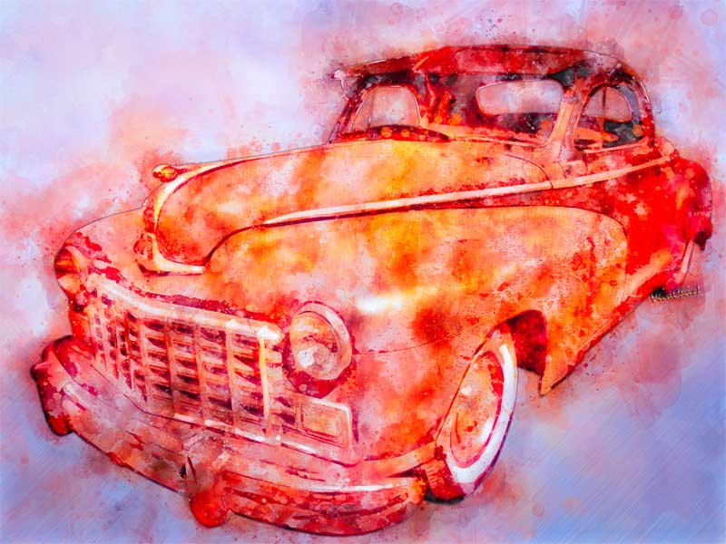 2017 Watercolours - the 48 Dodge 3-Window Coupe makes a great rat rod or a Golden Dream! - Click It if you like it