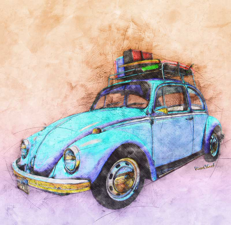 Remember your old Classic Road Trip Ride? Get this Watercolour print of your dream! Click the Image!