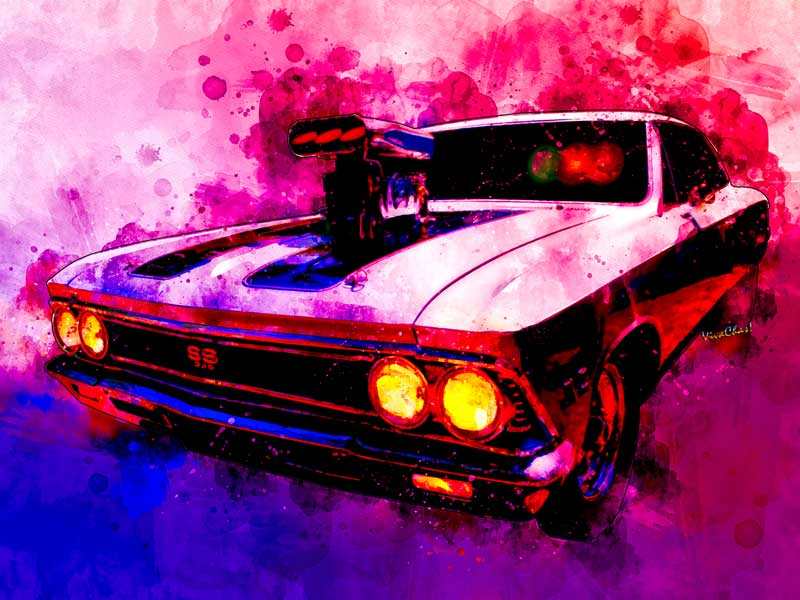 Get that Muscular SS 396 Chevelle Watercolour print by clicking the image - lots of cool stuff!